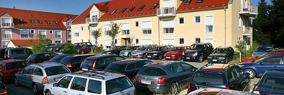 Aussen- Parkplatz am Flughafen München